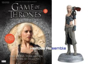 Game Of Thrones Official Collector's Models #08 Daenerys with Dragon Figurine & Magazine Eaglemoss